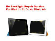 Apple iPad 1 / 2 / 3 / 4 / Mini / Air No Backlight Backlit Fix Repair Service