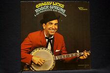 ROGER SPRUNG-Grassy Licks-Progressive Bluegrass VG++ Vinyl LP