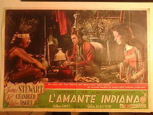 FOTOBUSTA CINEMA L'AMANTE INDIANA 1950 JAMES STEWART DELMER DAVES 20TH CENTURY