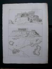 Luigi Canina PIANTA DI ATENE E DEL PIREO 1830-44 Incisione su rame  Stampa antic