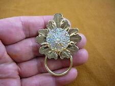 #E-786) Leaf yellow lemon Czech glass Eyeglass pin pendant ID badge holder