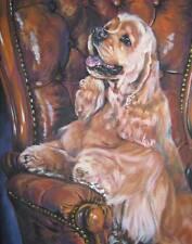 Cocker Spaniel painting LSHEP dog 11x14 CANVAS PRINT