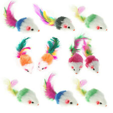 10pcs/set False Mouse Pet Cat Toys Fur Mini Funny Playing Toys For Kitten