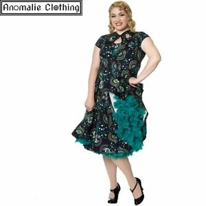 Banned Apparel Dancing Days Proud Peacock Cut Out Dress - Retro Rockabilly Pinup