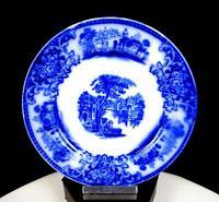 "W H GRINDLEY ENGLAND PORCELAIN SHANGHAI FLOW BLUE 6"" BREAD & BUTTER PLATE 1891-"