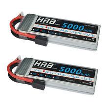 2pcs HRB 11.1V 5000mAh 3S 50C 100C RC LiPo Battery for 1/10 E-Revo Brushless Car