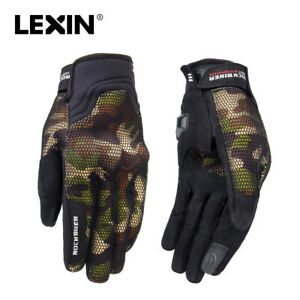 Breathable Motorcycle Gloves Full Fingers Touch Screen Mesh Camouflage Riding