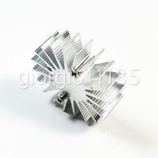 Us Stock 10x Od 35mm X H 10mm1w Watt Led Aluminium Heatsink Cooling Cooler Round