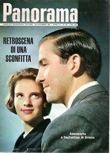 @ Panorama 89 dicembre 1967 Annamaria e Costantino di Grecia retroscena