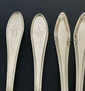 """Vintage Silverplate Mono """"W"""" Cocktail Forks - SET of 12"""