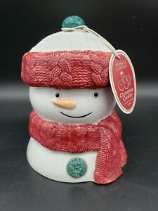 Yankee Candle Christmas Cookies Scented Candle in Ceramic Snowman NEW