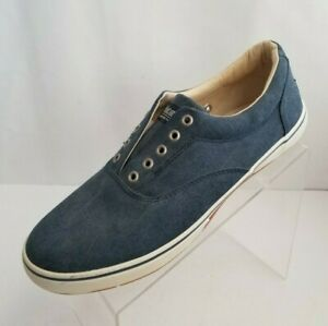 Margaritaville Boardwalker Mens Blue Canvas Lace Up Shoes Size 11 NEW