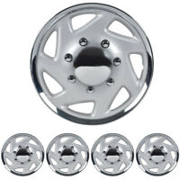 "Wheel Cover Fit Ford E-250 E-350 F-250 F-350 Hubcaps 4PC Chrome 16"" Durable ABS"