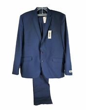Kenneth Cole Unlisted Mens 2 Button Slim Fit Suit Navy 48 Regular