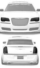 Fits 11-14 Chrysler 300 GTS Smoke Acrylic Headlight Taillight Covers 4pc Set