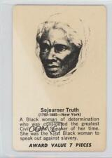 1971 Shindana Toys Afro American History Mystery #SOTR Sojourner Truth Card 0w6