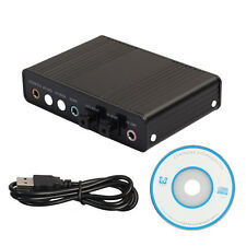 External S/PDIF USB Optical Sound Card Channel 5.1 Box DAC Audio For PC Laptop
