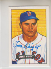 Autographed 1951 Bowman Reprint Tommy Wright(Deceased)