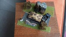 Kubelwagen Type 82 unimax + Jagdpanther solido sur socle bois massif 40 cm+++++