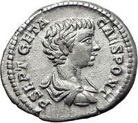 GETA 199AD Rome Silver Authentic Ancient Roman Coin Nobilitas Palladium  i61488