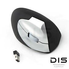 Wireless 2.4G Ergonomic Design USB Optical Wrist Healing Vertical PC Mouse Mice