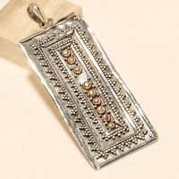 Filigree Pendant 925 Sterling Silver Handmade Fine Vintage Jali Work Jewelry New