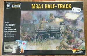 """Warlord Games Bolt Action World War II Wargames """"M3A1 Half Track"""" NEW/SEALED"""