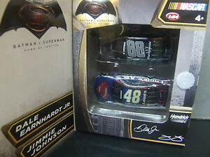 Dale Earnhardt Jr Jimmie Johnson 2016 Superman vs Batman 1/64 2 car Pack