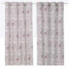 "IKEA Ingerlise""Lilac""Purple Curtain,2 Panel Drape Grommet Mod Floral 93 -97""Long"
