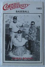 1983 Cornell University Baseball Guide - Dave Menapace, Dave Wohlhueter