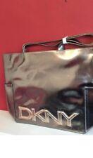 DKNY METALLIC FAUX LEATHER LARGE SHOPPER Tote Bag Handbag