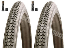 (Pair of) 16 X 1 3/8 Record Raleigh  Black Tyres And  Tubes - Schrader