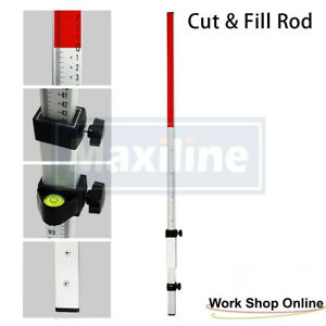 Cut and Fill Grade Rod for Rotary Laser Level Cross Line Laser Level