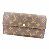 Louis Vuitton Wallet Purse Long Wallet Monogram Brown Woman Authentic Used Y1925