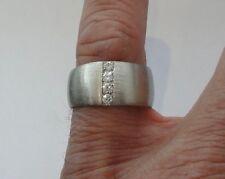 Designer Traumring 0,28 carat 4 BRILLANTEN  585 Weißgold Ringgrößen 58,59