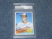 Cal Ripken Autographed Topps Card PSA Certified Encapsulated