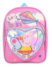 Peppa Pig Festival of Fun Fly a Kite Shiny Heart Pocket Childrens Backpack Bag