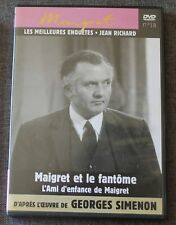 Jean richard, maigret and the ghost & childhood friend of maigret, dvd no 18