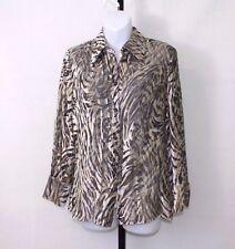 ESCADA Women's Striped Sheer Velvet Top Blouse  Size 34