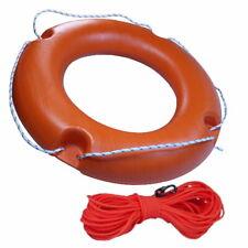 Bootszubehör für kleine Boote Wurfring Rettungsring mit Wurfleine Neu 45 cm