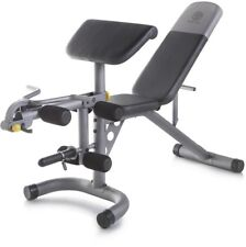 Golds Gym Weight Bench XRS 20 Total Body Workout 6-Roll Leg Developer Curl Yoke