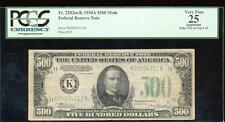 AC 1934A $500 FIVE HUNDRED DOLLAR BILL Dallas PCGS 25 apparent
