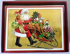 "NIB 15 Caspari Christmas Cards Boxed - ""All of my favorite things Santa"""