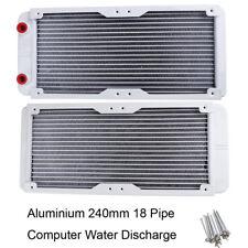 240mm 18 Tube Aluminium G1/4 Thread Heat Radiator Exchanger for PC Water Cooling