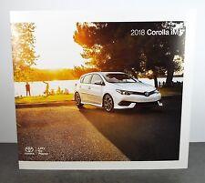 2018 Toyota Corolla iM Genuine Factory Sales Brochure - Toyota's Hatchback  F/S