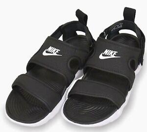 Nike Women OWAYSIS Slide Slipper Black White Shoes Beach GYM Sandals CK9283-002
