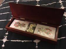 Standard Set Playing Cards- 2 Decks Plus Poker Dice Unused Boxed