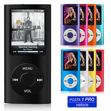 LETTORE PLAYER MP4 MP3 4GB 8GB 16GB 32GB VIDEO AUDIO FOTO RADIO FM DIVX NUOVO