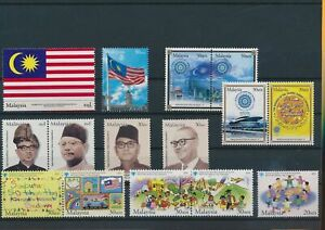LO43641 Malaysia mixed thematics nice lot of good stamps MNH