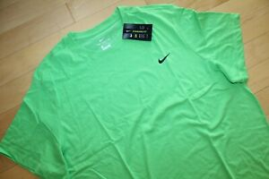 NWT NIKE Men's Dri-fit Big & Tall  Athletic T-Shirt Neon Green